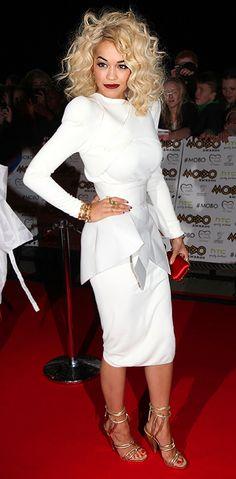 Rita Ora (in Mugler) at the 2012 MOBO Awards in Liverpool
