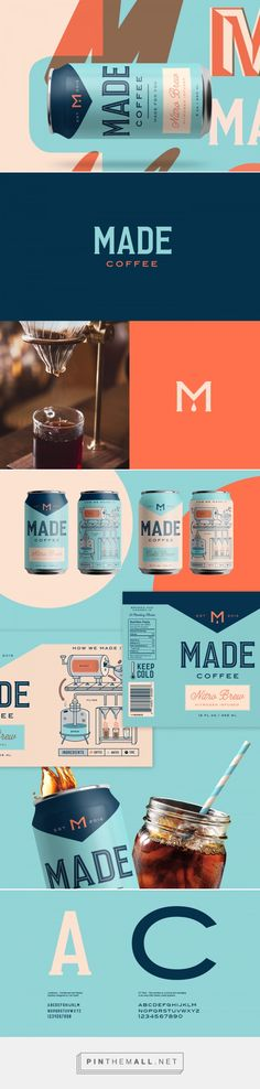 Made Coffee by Kenny Coil. Source: Bechance. Pin curated by #SFields99 #packaging #design #inspiration #can #coffee