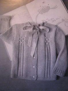 Free knitting & crochet pattern - modern vintage - smocked baby sweater cardigan - Providence knitting | Examiner.com
