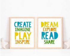 #PlayroomSeating Playroom Quotes, Playroom Signs, Playroom Wall Decor, Playroom Paint, Baby Playroom, Kids Room Wall Art, Playroom Storage, Playroom Furniture, Playroom Table