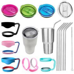 Replacement Cup Lid Handle Holder Straws for 20 30 oz Yeti Rambler Rtic Tumbler…