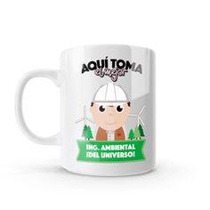 Mug - Aquí toma el mejor ingeniero ambiental del universo, encuentra este producto en nuestra tienda online y personalízalo con un nombre o mensaje. Chocolate Caliente, Snoopy, Mugs, Fictional Characters, Coffee Cup, Engineer, Store, Universe, Messages