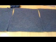 Вязание: жилетка из трех бабушкиных квадратов /мое продвижение - YouTube