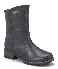 Take a look at this Black Outlaw Low Boot by Anna Shoes on #zulily today!