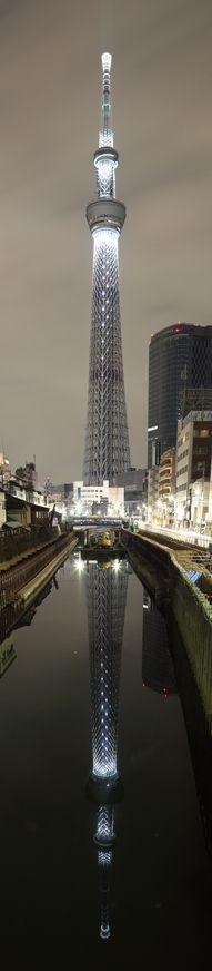Tokyo Skytree, a maior torre de telecomunicações do mundo. #Tóquio #Japão