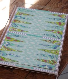 Kate Dickerson Needlepoint - Pucci-inspired Backgammon Board w/ Custom Lucite Tray