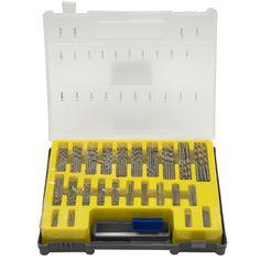150 PCS 0.4-3.2mm Bor Bit Set Presisi dengan Membawa Kasus Kotak Plastik Kecil Mini HSS Tangan Alat putar Bor Kit Set
