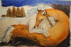 foxes art - Jackie Morris's snow animals in pictures Art And Illustration, Fuchs Illustration, Art Fox, Dad Drawing, Photo D Art, Tim Walker, Animal Totems, Pictures To Draw, Illustrators