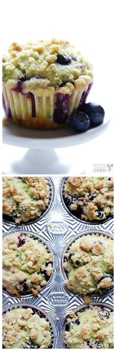 Blueberry Avocado Muffins -- healthier, simple to make, and absolutely delicious! | gimmesomeoven.com