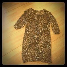 Express Sheer leopard XS shirt dress Sheer shirt dress Express Dresses