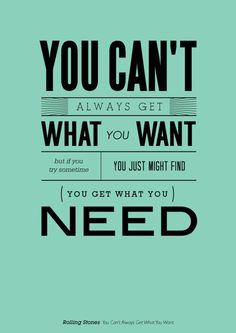 What you need . . . .