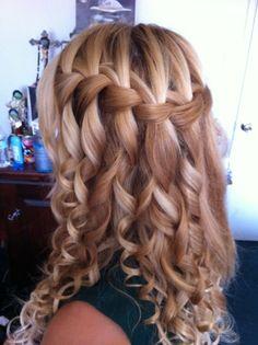 Super cute waterfall braid!!