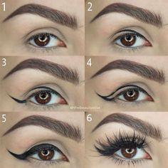 Eye Makeup Tips – How To Apply Eyeliner – Makeup Design Ideas Pin Up Eyeliner, How To Apply Eyeliner, Make Up Tutorial Contouring, Eyeliner Tutorial, Natural Makeup Tips, Eye Makeup Tips, Makeup Ideas, Contour Makeup, Eyebrow Makeup