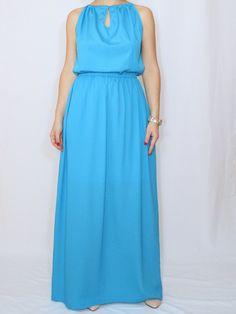 f40c74c92cb Size XL - Last size - Blue dress Aqua blue Bridesmaid dress Chiffon dress  Prom dress Keyhole dress