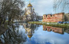 Photo by Lolli Elena-b Castle, Sky, Awesome, Water, Painting, Heaven, Gripe Water, Heavens, Painting Art