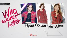 'Who Wore It Better' - Hyeri vs. Go Jun Hee vs. Ailee | http://www.allkpop.com/article/2015/01/who-wore-it-better-hyeri-vs-go-jun-hee-vs-ailee