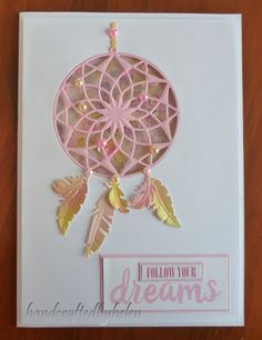 Handcrafted by Helen: 2 Dream catcher cards