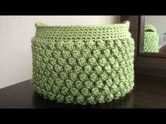 How To Crochet A Popcorn Stitch Storage Box, Lilu's Handmade Corner Video # 80 - YouTube