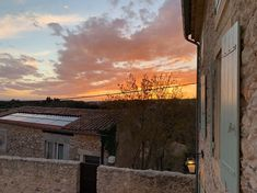 Sunset seen from the bedrooms at Oustau Le Bijou