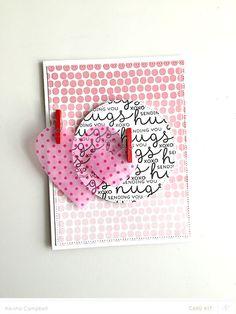 xoxo Sending You Hugs card by Keisha Campbell at @studio_calico