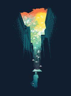 """I Want My Blue Sky"" Art Print by Budi Satria Kwan on Society6."