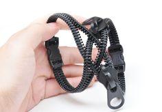 Steampunk wrap bracelets, black metal gift. from Zipperjewelry by DaWanda.com