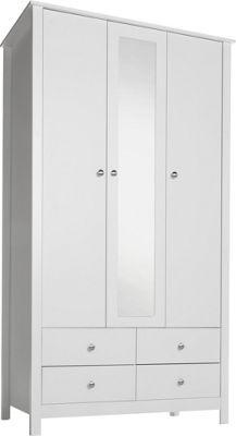 Buy Osaka 3 Door 4 Drawer Mirrored Wardrobe - White at Argos.co.uk, visit Argos.co.uk to shop online for Wardrobes