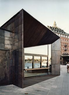 Completed in 2013 in Stockholm, Sweden. Images by Johan Fowelin. June 2013 saw the opening of Marge Arkitekter's new ferry terminals at Strömkajen in Stockholm. Architecture Design, Scandinavian Architecture, Facade Design, Amazing Architecture, Contemporary Architecture, Origami Architecture, Scandinavian Modern, Interior Exterior, Exterior Design