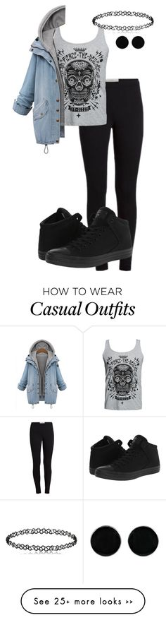 """casual"" by xoxoxdomo on Polyvore featuring AeraVida and Converse More"