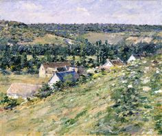 Theodore Robinson (American, 1852-1896), [Old Lyme Colony, Impressionism] Giverny, 1888.