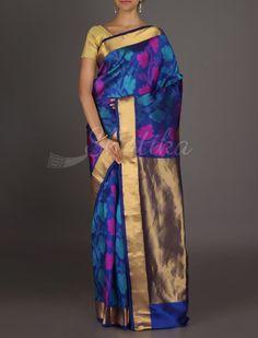 Vanita Blooming Flowers Gold Pallu #ArniSilkSaree