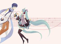 KAITO Y MIKU Creds by 夢衣 @Pixiv