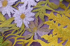 Sue rangeley - free machine embroidery on dissolvable fabric Contemporary Embroidery, Modern Embroidery, Beaded Embroidery, Embroidery Designs, A Level Textiles, Textile Fabrics, Water Soluble Fabric, Textiles Techniques, Free Machine Embroidery