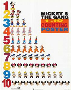 Mickey Mouse and Friends 1 to 10 Counting Photo at AllPosters.com