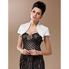 Silk And Spandex Open Front Evening/Wedding Jacket With Short Sleeves – USD $ 39.99  http://www.lightinthebox.com/silk-and-spandex-open-front-evening-wedding-jacket-with-short-sleeves_p267987.html