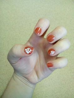 Snow flake nail art