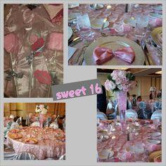 #sweet16 #prettyinpink #birthday #pinkprincess #pink #princess #selena #partyidea #cake #quinceniera #firstdance #daddysgirl #daddy #monmy #centerpieces #candy #candystation