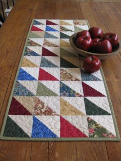 Quilted Triangles Table Runner - I love the clean lines look of this!!  :)