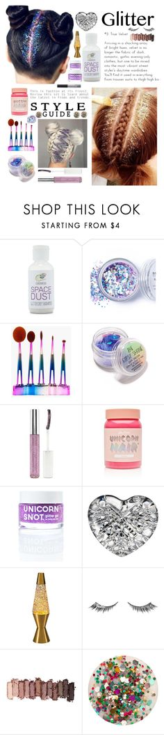 """Glitter Roots"" by randomgirl03 ❤ liked on Polyvore featuring beauty, Forever 21, In Your Dreams, Boohoo, The Gypsy Shrine, Lime Crime, FCTRY, Waterford, Universal Lighting and Decor and Urban Decay"