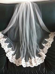 Mantilla Veil Bridal Wedding Elbow Alencon Lace