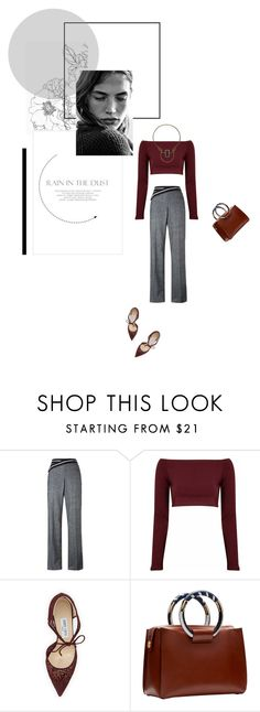 """"""" evening"""" by berenikan ❤ liked on Polyvore featuring Loewe, Glamorous, Jimmy Choo, The Row and By Malene Birger"""