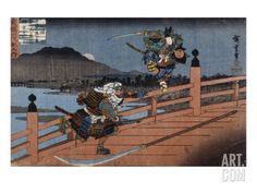 Combat de samouraï Giclee Print by Ando Hiroshige at Art.com