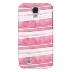 Pink and White Watercolor Samsung Galaxy S4 Case
