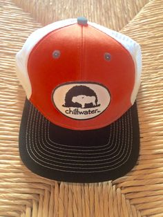 d3a316d4770 This comfy structured Patch Flat Bill hat is made of 100% cotton twill and  has