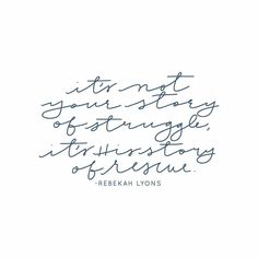"""""""It's not your story of struggle, it's His story of rescue"""" -Rebekah Lyons #YouAreFree faithgateway.com/OBS"""