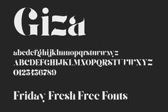 Friday Fresh Free Fonts - Giza, Boston, Sen | Abduzeedo Design Inspiration