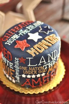 4th of July Cake- untraditional but awesome