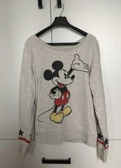 Kup mój przedmiot na #vintedpl http://www.vinted.pl/damska-odziez/bluzy/16752192-szara-bluza-z-nadrukiem-myszka-mickey
