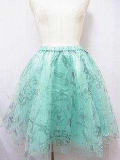 Playing Card Motif Knee-Length Tulle Skirt. Available at: http://www.cdjapan.co.jp/apparel/new_arrival.html?brand=SLV