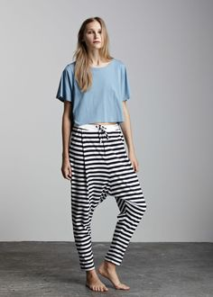 kowtow - 100% certified fair trade organic cotton clothing - Building Block Low Crotch Pant
